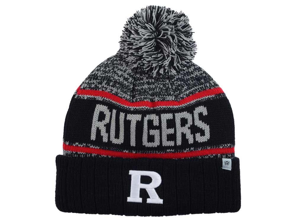 big sale 27384 12804 Rutgers Scarlet Knights Top of the World NCAA Acid Rain Pom Knit good