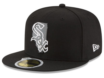 Chicago White Sox MLB State Reflective Dub 59FIFTY Cap Hats