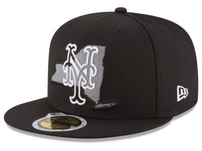 New York Mets MLB State Reflective Dub 59FIFTY Cap Hats
