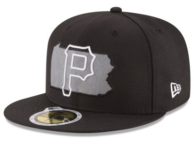 Pittsburgh Pirates MLB State Reflective Dub 59FIFTY Cap Hats