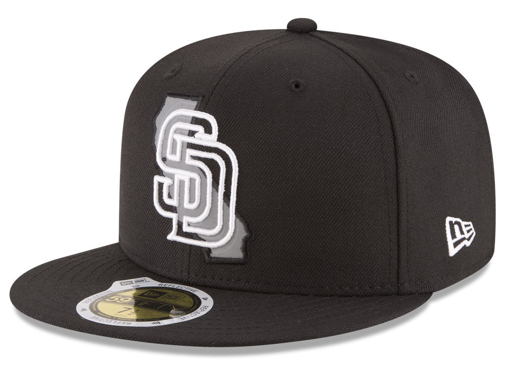 d766f3d68f0d5 San Diego Padres New Era MLB State Reflective Dub 59FIFTY Cap hot sale
