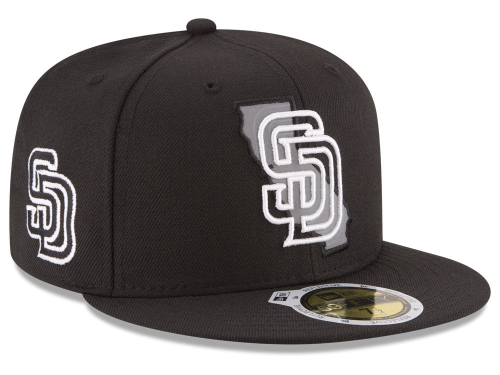 d1cd234c6a4 San Diego Padres New Era MLB State Reflective Dub 59FIFTY Cap hot sale