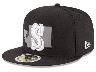 Seattle Mariners MLB State Reflective Dub 59FIFTY Cap Hats