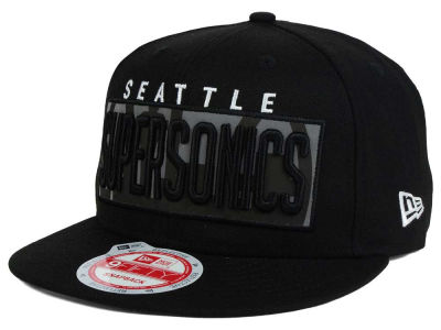 Seattle SuperSonics NBA HWC Dub Reflective 9FIFTY Snapback Cap Hats