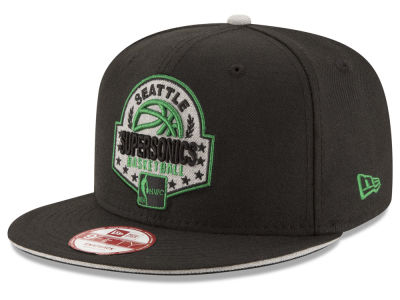 Seattle SuperSonics NBA HWC The Heather Patch 9FIFTY Snapback Cap Hats