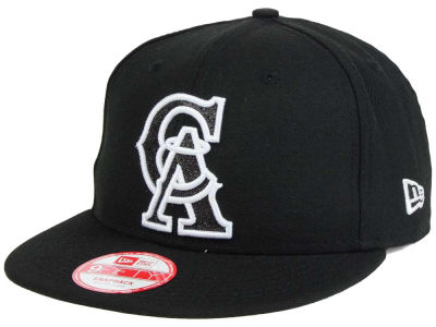Los Angeles Angels MLB Black-Tallic 9FIFTY Snapback Cap Hats