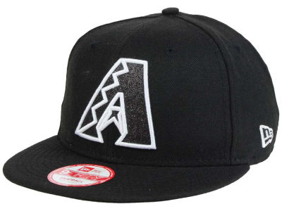 Arizona Diamondbacks MLB Black-Tallic 9FIFTY Snapback Cap Hats