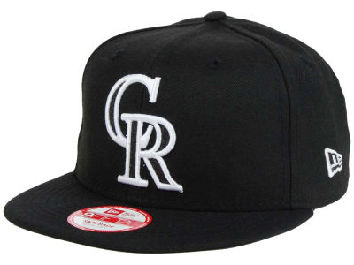 Colorado Rockies MLB Black-Tallic 9FIFTY Snapback Cap Hats