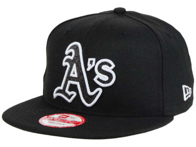 Oakland Athletics MLB Black-Tallic 9FIFTY Snapback Cap Hats