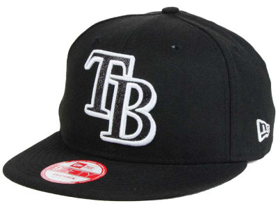 Tampa Bay Rays MLB Black-Tallic 9FIFTY Snapback Cap Hats