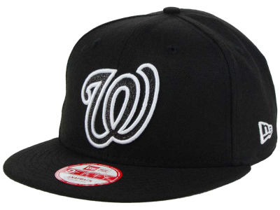 Washington Nationals MLB Black-Tallic 9FIFTY Snapback Cap Hats