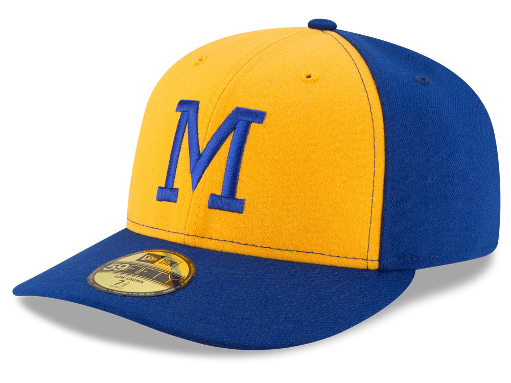 hot sale online 8322a 6edf7 ... italy milwaukee brewers new era mlb 2016 turn back the clock 59fifty cap  hot sale 2017