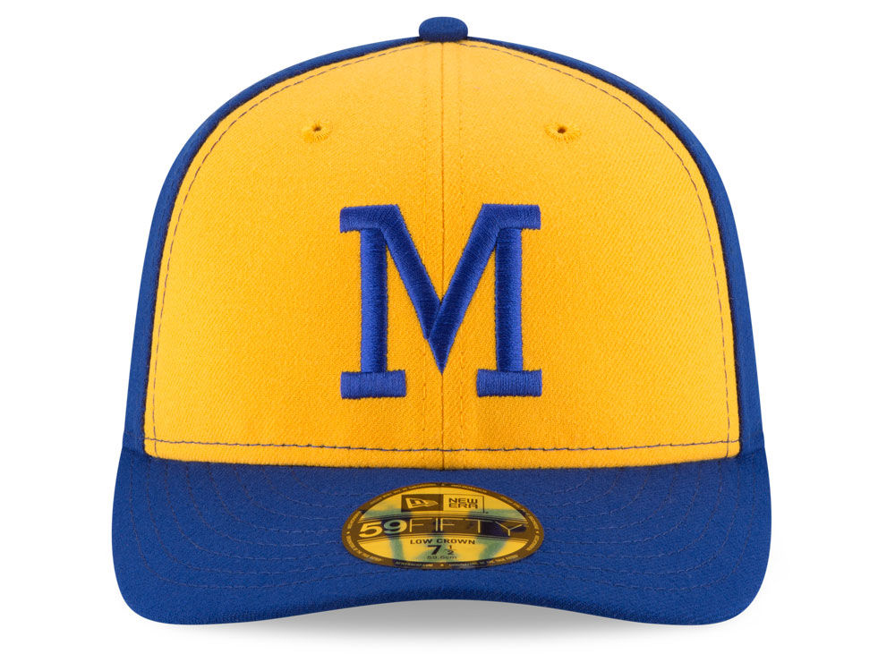 half off b6139 23aa0 Milwaukee Brewers New Era MLB 2016 Turn Back The Clock 59FIFTY Cap hot sale  2017