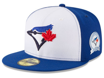 Toronto Blue Jays 2016 MLB 40th Anniversary On-Field Patch 59FIFTY Cap Hats