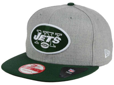 New York Jets NFL Heather 2 Tone 9FIFTY Snapback Cap Hats