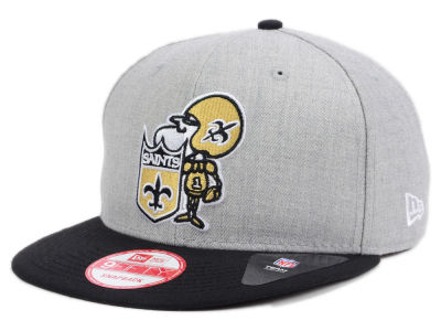 New Orleans Saints NFL Heather 2 Tone 9FIFTY Snapback Cap Hats