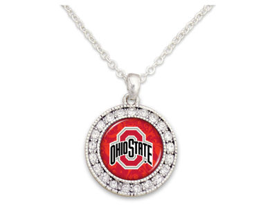 Rhinestone Disk Necklace