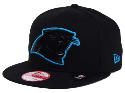 Carolina Panthers NFL Black Bevel 9FIFTY Snapback Cap Hats