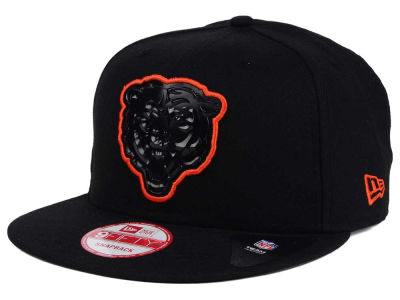 Chicago Bears NFL Black Bevel 9FIFTY Snapback Cap Hats