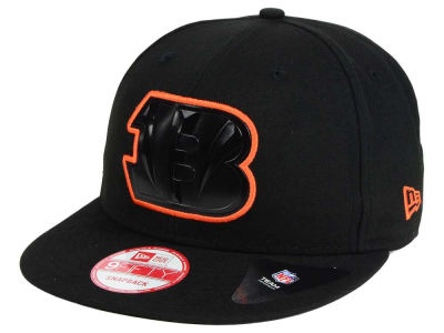 Cincinnati Bengals NFL Black Bevel 9FIFTY Snapback Cap Hats