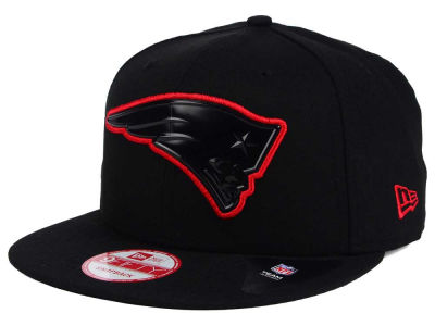 New England Patriots NFL Black Bevel 9FIFTY Snapback Cap Hats