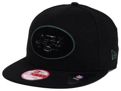 New York Jets NFL Black Bevel 9FIFTY Snapback Cap Hats