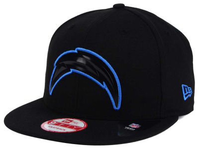 Los Angeles Chargers NFL Black Bevel 9FIFTY Snapback Cap Hats