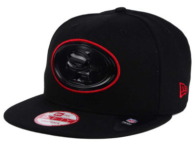 San Francisco 49ers NFL Black Bevel 9FIFTY Snapback Cap Hats