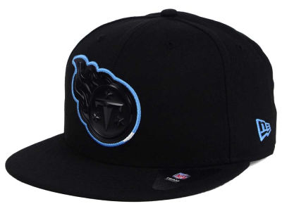 Tennessee Titans NFL Black Bevel 9FIFTY Snapback Cap Hats