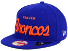 Denver Broncos New Era NFL LIDS 20th Anniversary Script 9FIFTY Snapback Cap Adjustable Hats