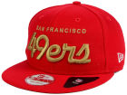 San Francisco 49ers New Era NFL LIDS 20th Anniversary Script 9FIFTY Snapback Cap Adjustable Hats