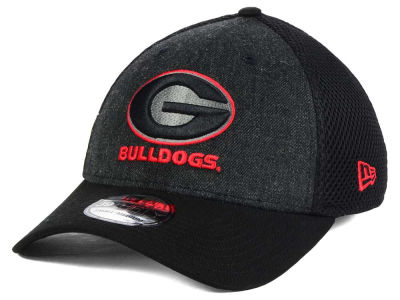 Georgia Bulldogs NCAA Heather Black Neo 39THIRTY Cap Hats