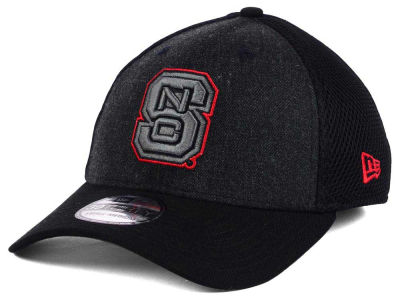 North Carolina State Wolfpack NCAA Heather Black Neo 39THIRTY Cap Hats