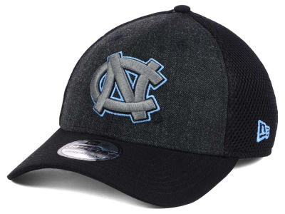 North Carolina Tar Heels NCAA Heather Black Neo 39THIRTY Cap Hats