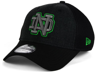 Notre Dame Fighting Irish NCAA Heather Black Neo 39THIRTY Cap Hats