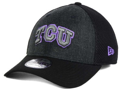 Texas Christian Horned Frogs NCAA Heather Black Neo 39THIRTY Cap Hats