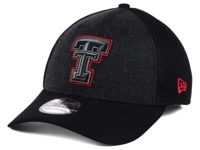 Texas Tech Red Raiders NCAA Heather Black Neo 39THIRTY Cap Hats