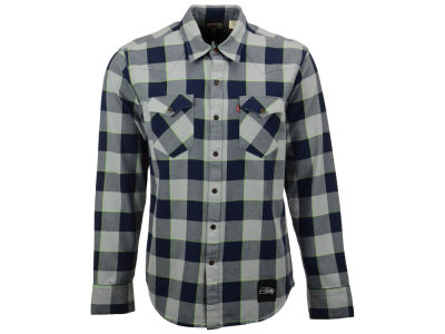 Seattle Seahawks Levi's NFL Plaid Barstow Western Top