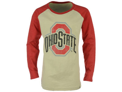 NCAA Kids Girls Sparkle Slub Raglan Long Sleeve T-Shirt