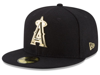 Los Angeles Angels MLB Premium O'League Gold 59FIFTY Cap Hats