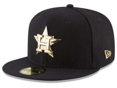 Houston Astros MLB Premium O'League Gold 59FIFTY Cap Hats