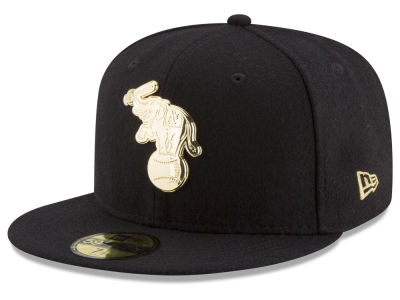 Oakland Athletics MLB Premium O'League Gold 59FIFTY Cap Hats