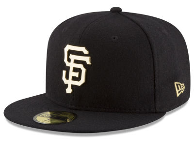 San Francisco Giants MLB Premium O'League Gold 59FIFTY Cap Hats