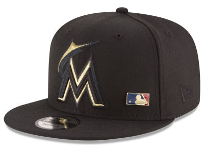 Miami Marlins MLB Metal Man 9FIFTY Snapback Cap Hats