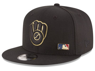 Milwaukee Brewers MLB Metal Man 9FIFTY Snapback Cap Hats