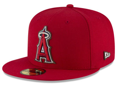 Los Angeles Angels MLB Classic Leather Outline 59FIFTY Cap Hats