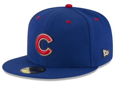 Chicago Cubs MLB Classic Leather Outline 59FIFTY Cap Hats