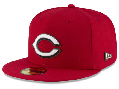 Cincinnati Reds MLB Classic Leather Outline 59FIFTY Cap Hats