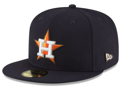 Houston Astros MLB Classic Leather Outline 59FIFTY Cap Hats