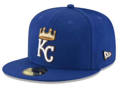Kansas City Royals MLB Classic Leather Outline 59FIFTY Cap Hats